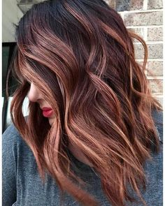 Trendy Fall and Winter Hair Color Ideas - winter hair color ideas, brown hair colors , hair colors blonde hair colors, balayage colors, - Brown Hair Balayage, Brown Blonde Hair, Hair Color Balayage, Dark Blonde, Blonde Balayage, Red Highlights In Brown Hair, Auburn Highlights, Black Hair, Rose Gold Balayage Brunettes
