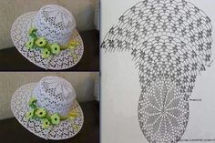 Crochet Sun Hat Patterns Part 3 - Diy Crafts - Marecipe Crochet Adult Hat, Crochet Hooded Scarf, Patron Crochet, Crochet Summer Hats, Crochet Kids Hats, Crochet Cap, Crochet Motifs, Afghan Crochet Patterns, Crochet Clothes