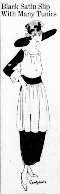 Black Satin Slip - From the June 04, 1920 issue of The Seattle Star
