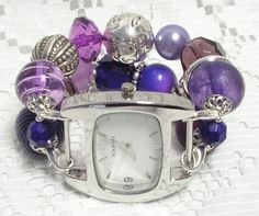 Interchangeable Watch Band  Plum Delicious  by LoveBugsJewelry, $16.50