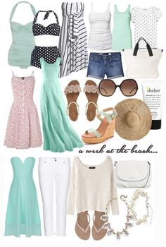 What to pack for a week at the beach: beach holiday packing list> Shoeperwoman
