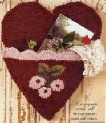 Heart Pocket Rug Hook Paper Pattern OFG Team by LaceyJane on Etsy, $12.50