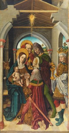 """""""The path of the just is like shining light, that grows in brilliance till perfect day."""" Proverbs 4:18 // Adoration of the Magi / Adoración de los Reyes Magos // // Ca. 1500 // Master of the Sisla // From the Hieronomite monastery of La Sisla (Toledo) // #Jesus #Christ #Cristo #Epiphany #Epifanía"""