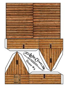 Inkjet_Paper_Scissors: LakeTown House Number 4 .Another viking/dark ages/Middle Earth house. Rough log style with a plank roof.