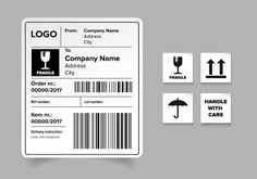 Ad: Shipping label template by Lin´s on Shipping label template vector. Gfx Design, Layout Design, Logo Design, Graphic Design, Barcode Design, Label Design, Packaging Design, Print Design, Branding Design