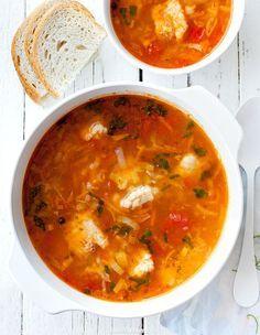 Zupa rybna Soup Recipes, Great Recipes, Cooking Recipes, Vegan Runner, Vegan Gains, Fish Soup, Sandwiches, Polish Recipes, Polish Food