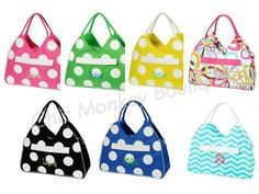 Large Mod Print Beach Bags in 7 Pretty Colors with Free Personalization...by Chic Monkey Boutique, $29.95