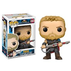 From Thor Ragnarok, Thor in Gladiator Suit, as a stylized pop vinyl from Funko! Collect and display all Thor Ragnarok pop! Funko Pop Marvel, Marvel Avengers, Lego Marvel, Marvel Ragnarok, Thor Ragnarok Movie, Funko Pop Dolls, Figurines Funko Pop, Pop Figurine, Avengers