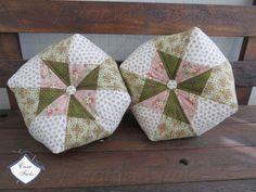 Almofada em Patchwork para decoração