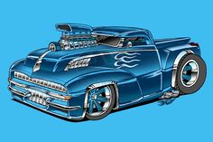 Hot Rod Pick-up Truck by on DeviantArt Fancy Cars, Cool Cars, Cool Car Drawings, Hot Rod Pickup, Drawing Machine, Cars Coloring Pages, Truck Art, Garage Art, Hot Rod Trucks
