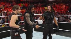 Arm Wave Shield Bump. Monday Night Raw. March 10th 2014. The Rhodes Brothers vs. Roman Reigns and Seth Rollins.
