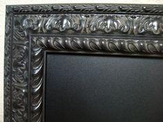 EXTRA LARGE FRAMED Chalkboard-Magnetic Chalkboard 42x30 Black Ornate Baroque Vintage Frame-Wedding-Menu-Kitchen-Office Organizer