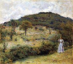 Robert Reid (American 1862–1929) {Impressionism, Muralist] Springtime Stroll.