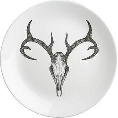 Teller Antler Skull ⌀26, 16€, jetzt auf Fab.