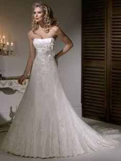 Taffeta and Tulle Wedding Dress
