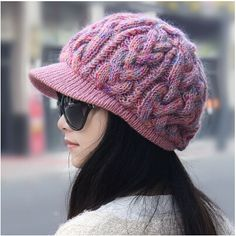 warm newsboy cap for women winter warm wool knit hat