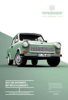 this ad was able to create great contrast with the mint green against the white background and making the car bleed right into the white creates a great balanced design. I also like how subtle the tag lines are making the car the focal point.
