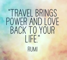 Pinterest: iamtaylorjess | Travel brings power and love back to your life.