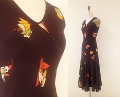 1930s Novelty Print Dress / Take Flight Dress / by CaramelVintage