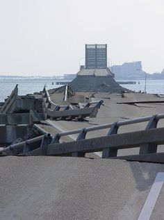 Biloxi/Ocean Springs Bridge after Hurricane Katrina