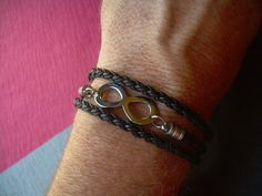 Stainless Steel and Leather Infinity by UrbanSurvivalGearUSA