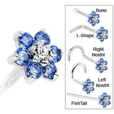 Covet Jewelry Clear 1.5mm Prong CZ Nose Stud Ring Solid Gold na