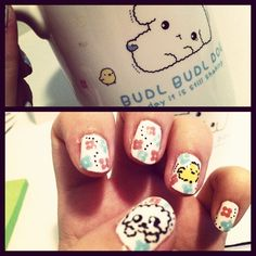 My son's favorite cup inspired this nail art :)