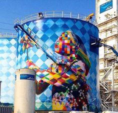Artiste Eduardo Kobra new stunning Street Art project located in Cubatão, Brazil…