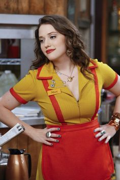 Max (Kat Dennings) from 2 Broke Girls, a zany sitcom. One of the two new chick TV shows
