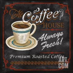 The Coffee House Art Print by Conrad Knutsen at Art.com