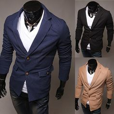 Fashion Men Slim Fit Two Button Blazer with Pockets – Sneak Outfitters Blazers For Men, Blazer Buttons, Fashion Men, Suit Jacket, Slim, Pockets, Fitness, Outfits, Collection