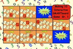 Making Ten: Interactive SMARTboard Game for Gr. 1 by Carmela Fiorino Vieira Mastering Math, Ten Games, Promethean Board, 1st Grade Activities, Making Ten, Tens And Ones, Thing 1, Teacher Notebook, Common Core Math
