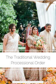 The Traditional Wedding Processional Order Wedding Processional Order, Wedding Ceremony, Tea Party Wedding, Home Wedding, Bride Party Ideas, Dance Floor Wedding, Wedding Etiquette, Martha Stewart Weddings, Traditional Wedding