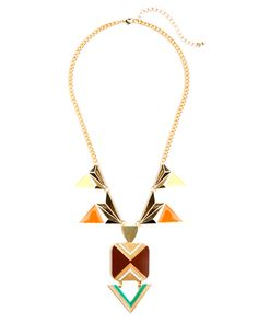 Aztec Geo Necklace - JewelMint