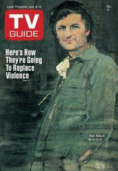 TV Guide June 4, 1977 - Alan Alda of M*A*S*H*. Illustration by Bernard Fuchs.