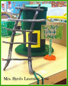 Mrs. Byrd's Learning Tree: St. Paddy's Day Fun! - Cute kid made leprechaun traps and a FREEBIE for you to do them as a homework project with your class.