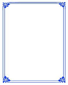 Simple background blue border