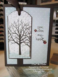 card made by DonElla Nielsen, Stampin' at the Cottage, using Stampin' Up Sheltering Tree from the new Occasions Catalog