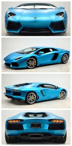 Check out this striking Ocean Shimmer Aventador #DreamCars