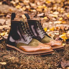 "#ACloserLook at the Social Status (@thesocialstatus) x Grenson 2013 Holiday ""Beef & Broccoli"" Wingtip Brogue Boots"