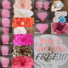Hey everyone! I am doing a TEMPLATE SALE, Buy 2 and get 1 FREE!! Sale will end tomorrow at 9pm PST. Please message me for inquiries. Thank you 9k! #paperflowers #paperflowerbackdrop #paperflowerwall #paperflower #paperose #templatesale #sale #diy #tutorials #paperroses #roses #handmade #decor #events #doityourself