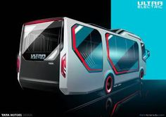 Tata Ultra Electric Bus rear render