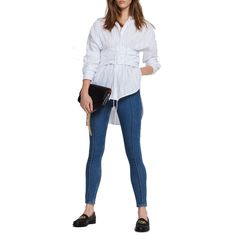 --evaChic--This Sandro Superbe Corset Cotton Shirt is an all-weather wardrobe essential featuring striped shirting fabric, corset waistline detail, and pleating that feminizes the silhouette. Self-tie makes it sexy and sophisticated. This key item offers adjustability flattering all body types.      https://www.evachic.com/product/sandro-superbe-corset-cotton-shirt/