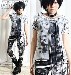 Volcano+Ash+Smoked+Flame+Gothic+Punk+Unisex+Tie+Dye+by+runnickyrun,+$42.00