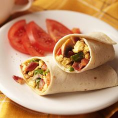 Bacon and Egg Breakfast Wraps