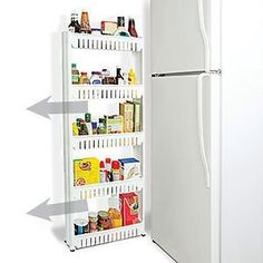 Slim Storage Cabinet Organizer Slide Out Cart Rack with Wheels for Narrow Spaces in Laundry Kitchen Bathroom Apartments Closets (5 Tier), http://www.amazon.com/dp/B01DCQMO1Q/ref=cm_sw_r_pi_awdm_X3Lsxb0A5SB4A