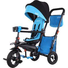 Τρίκυκλο Ποδηλατάκι Easy Magic 5 in 1 Blue Bebe Stars Double Baby Strollers, Icandy Peach, Easy Magic, Tricycle, Stability, Parents, Smooth, Handle, Stars