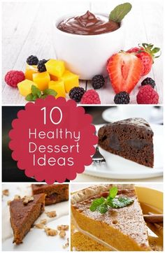 Healthy Dessert Ideas and Recipes. My New Year resolution. If I can't stop having dessert than I will make an effort to make them healthier. Ha!