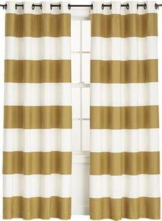 Alston Ivory/Gold Curtain Panels