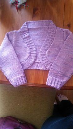 Bolero cardigan for janey. Devon sun's mothers love yarn.